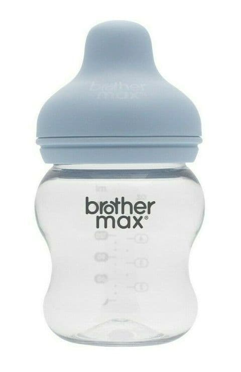 Brother Max - Extra-wide neck Feeding Bottle 160ml/5oz - Blue